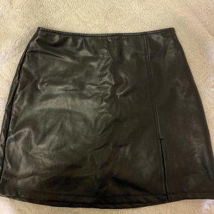PACSUN Faux Leather Mini Skirt